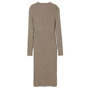 Stickad klänning, H&M