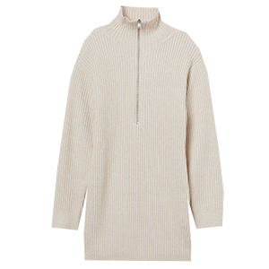 Ribbstickad klänning, H&M