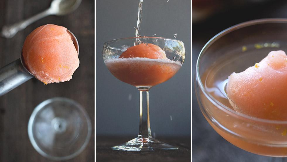 Testa att göra egen Aperol Spritz-sorbet!