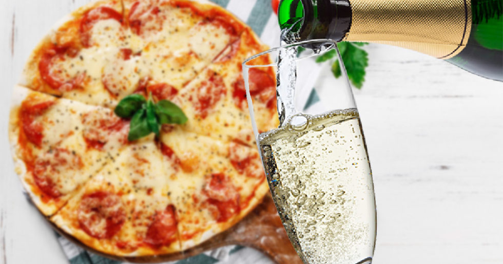 mat som passar till champagne