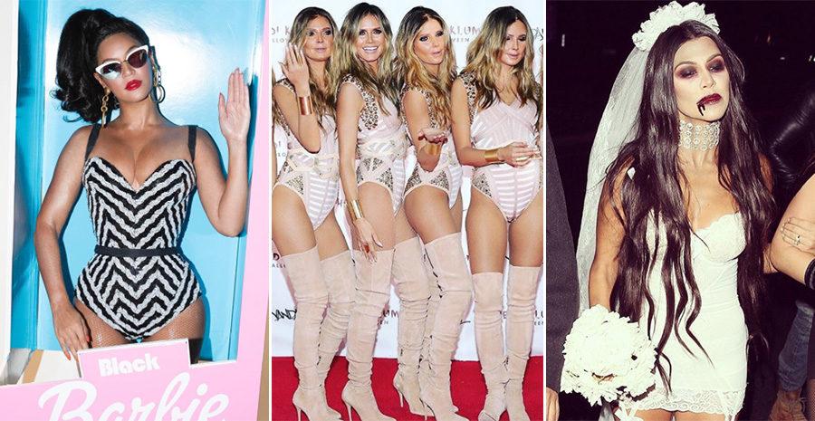 Beyoncé som Black Barbie och sex versioner av Heidi Klum –spana in kändisarnas Halloween-outfits!