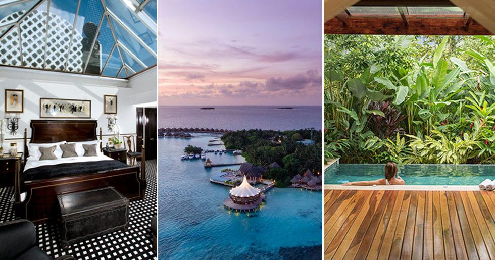 Världens bästa hotell – 9 pärlor att drömma sig bort till