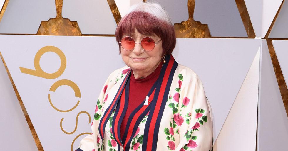 Oscarsnominerade Agnès Varda, 89, bar Gucci på röda mattan – och Twitter jublar