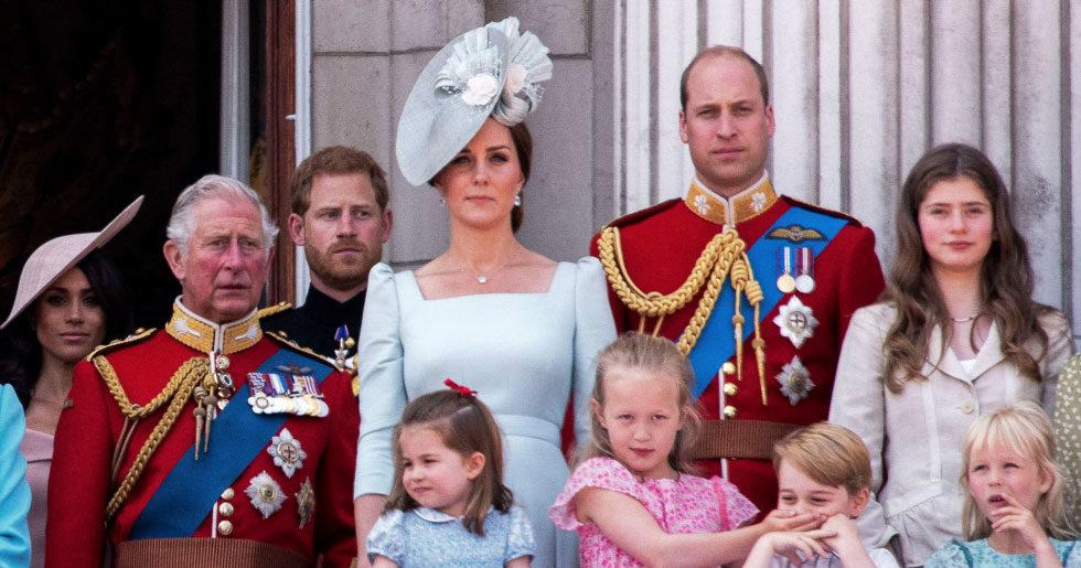 Duchess Kate Middleton och Prins William med alla barn