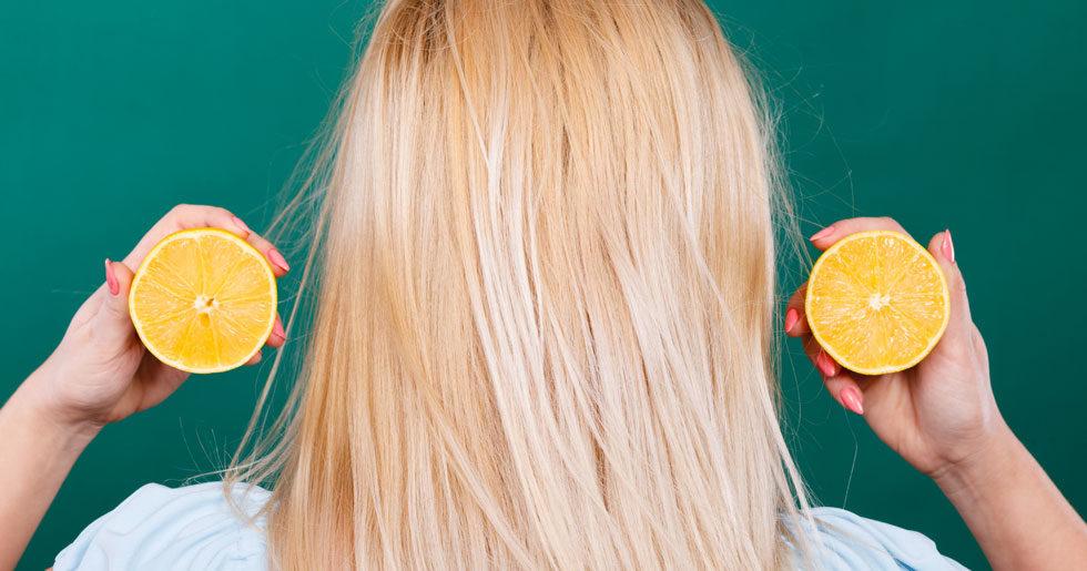 bleka håret med citron recept