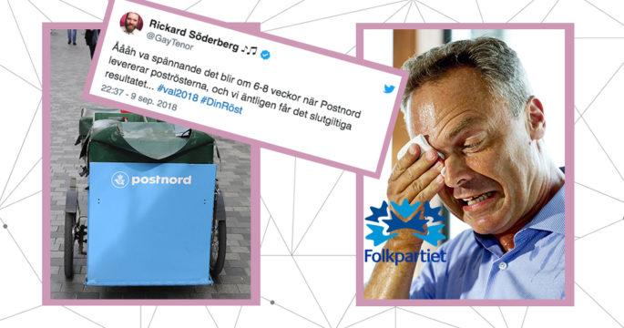 """""""Valfusk! Folkpartiets valsedlar borta!"""" och 9 andra roliga reaktioner på  valet 2018."""