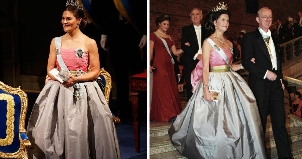9215bd616c84 Här bär kronprinsessan drottning Silvias Nobelklänning från 1995   ELLE