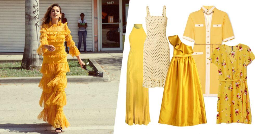 4d0b01eca6fd 22 gula klänningar i butik just nu – för alla stilar och plånböcker ...