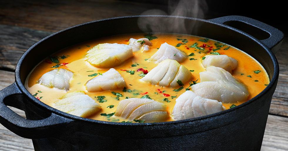 Provencalsk fiskgryta med saffran.