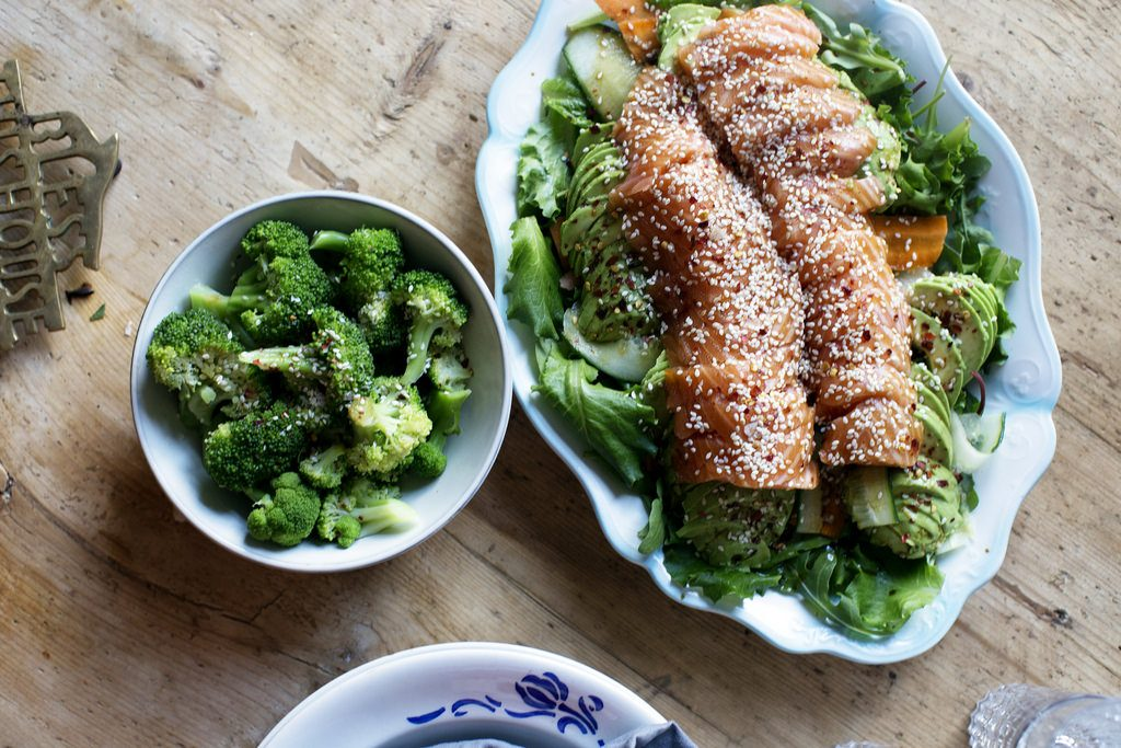 Recept – Asiatisk laxsallad