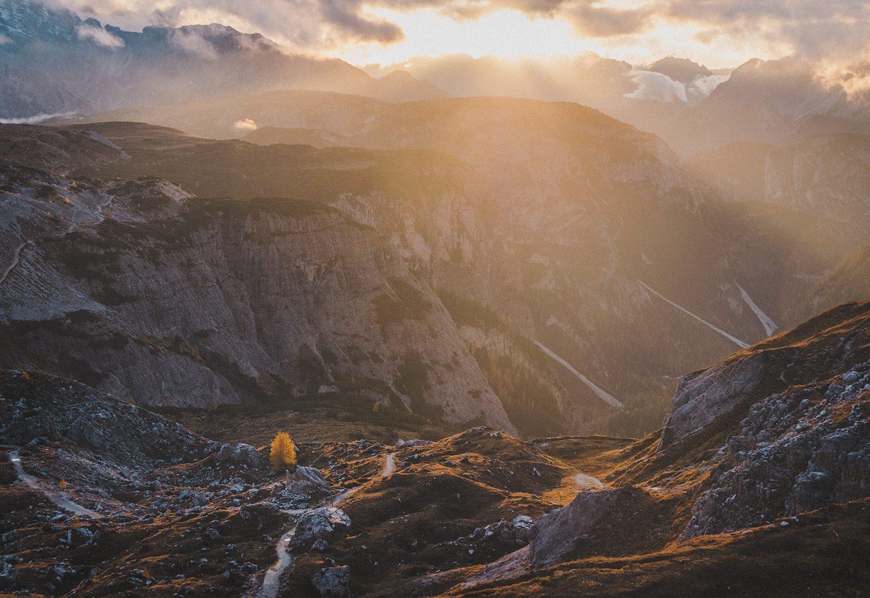 En fin kväll i Dolomiterna