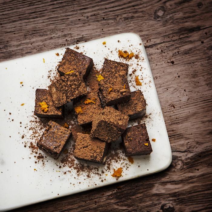 choklad- och apelsinfudge