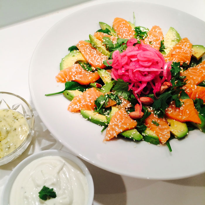 sashimi sallad recept