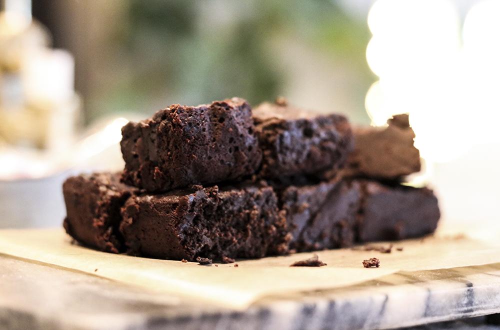 nyttig brownie svarta bönor