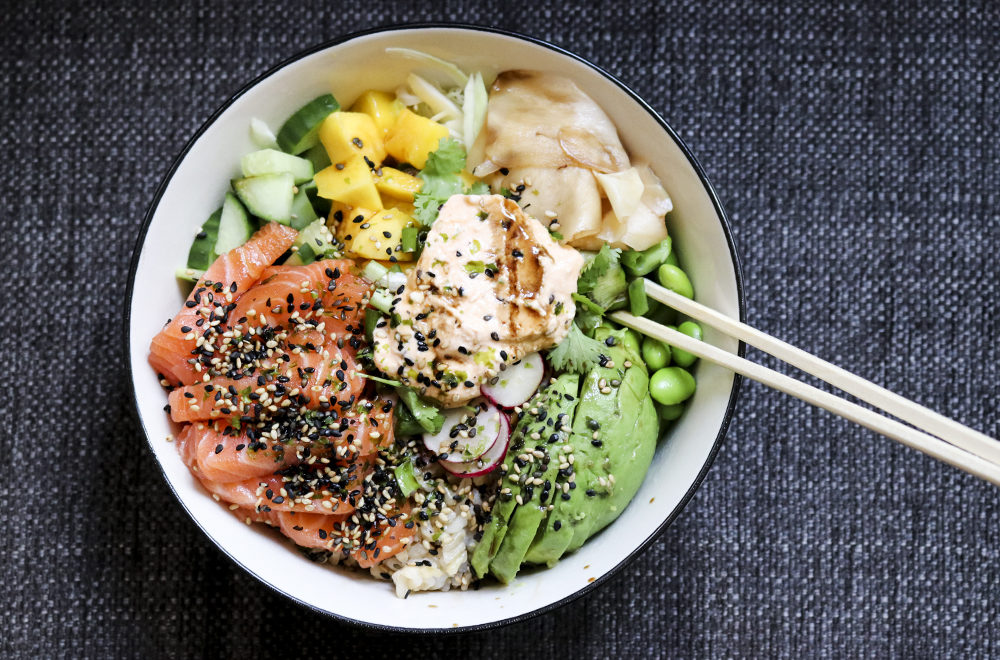 poke bowl lax recept