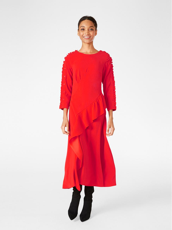 Röd volangklänning 7b33bcd9442aa