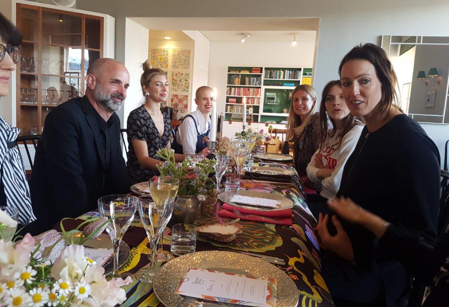 Jag hade lyxen att få njuta av en fantastisk kväll på Svenskt Tenn häromkvällen med god mat, vackra möbler och härligt folk!