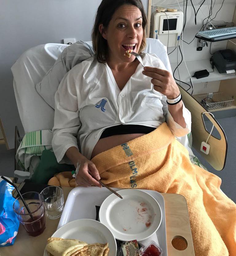 Nina Campings förlossningsberättelse om när hon födde Rocco Campioni