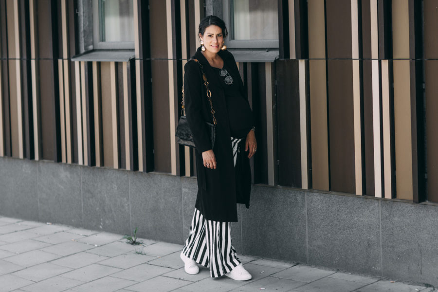 nina campioni outfit of the day, ootd, minimum pants, lacoste sneakers, tiger of sweden jacket, yves saint laurent bag and hm earrings.jpg
