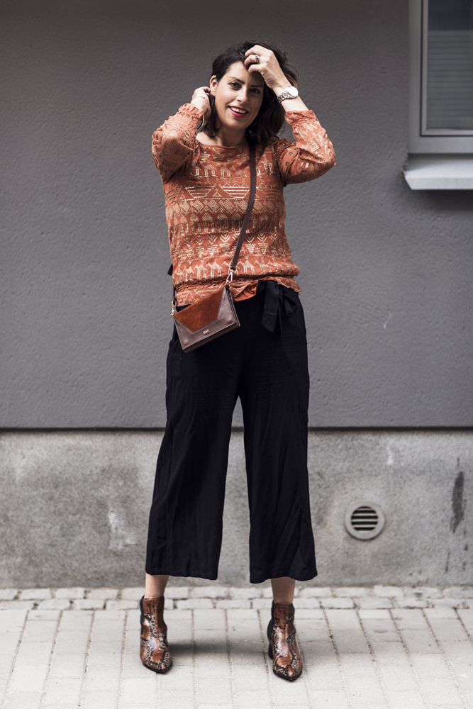 Nina Campioni OOTD outfit of the day, pants from Kappahl, top by Day, shoes by &other stories and bag from Bukvy