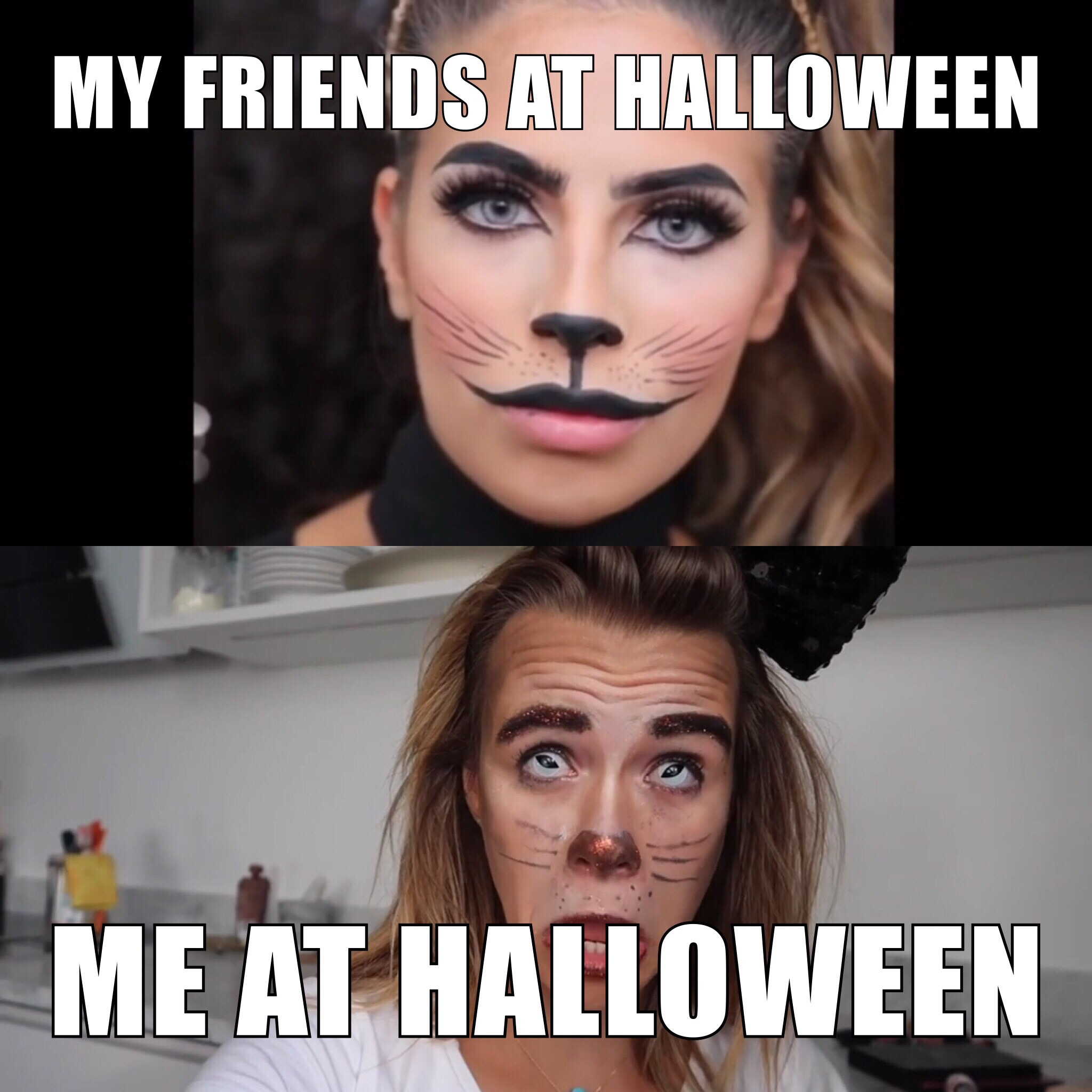 enkel halloween sminkning