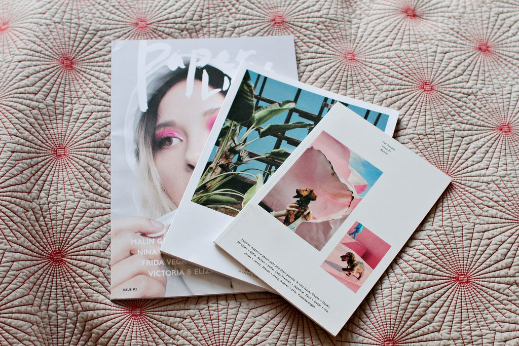 three magazines.