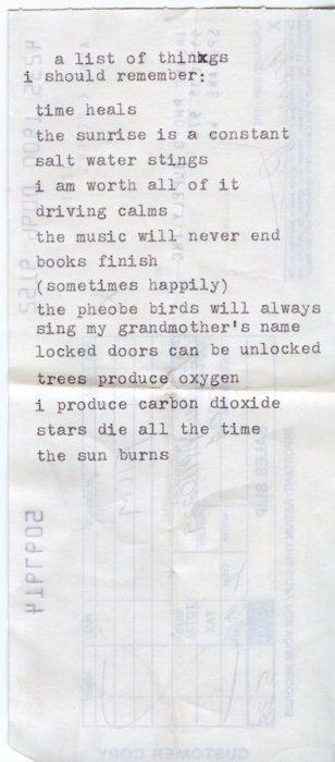 a list.