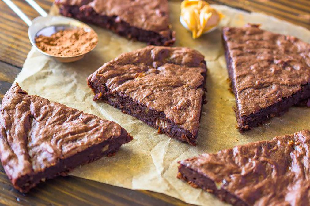 Veganska fudge-brownies.