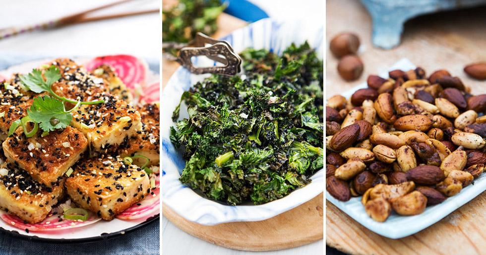 Tofu, grönkål och nötter innehåller mycket järn.