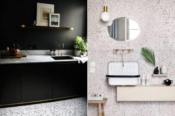 Terasso. Modernt kök och badrum. Inredningstrender
